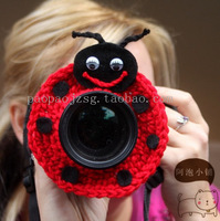 Min.order is $9.9 (mix order)style camera case handmade knitted lens set child props