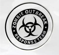 Free Shipping Style Car Stickers, Zombie Outbreak Car Decal ,Waterproof On Rear Windshield Door Tank Lid Sticker