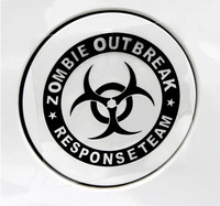 Free Shipping Style Car Stickers, Zombie Outbreak Car Styling ,Waterproof On Rear Windshield Door Tank Lid Sticker