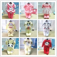 Hot-sell autumn newborn baby boy girl Clothing Set,cute cartoon roupas de bebe cotton t-shirt+pants conjuntos,kids clothes sets