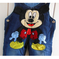 NEW 2014 baby Mickey Minne pants jeans trousers overalls for boys girls children animal design shorts pants baby clothing