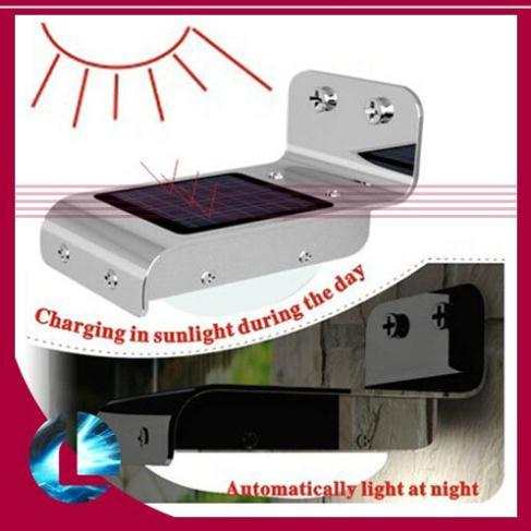 2014 New Solar Powered Outdoor Lighing Lamp/ Wall Light Ray/Sound Sensor Energy-saving Garden LEDs(China (Mainland))