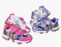2014 New arrival  Kids Frozen Sneaker Shoes for Girls Children Sports Shoes Fashion Frozen elsa anna kid free shipping
