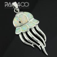 White Fire Opal Silver Fashion Jewelry Women & Men Seahorse Pendant  OLP012B  Wholesale & Retail