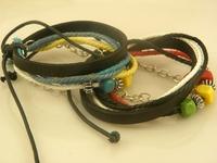 Men's Hot Sale Handmade Leather wrap/Charm Bracelets leather bracelet Wholesale Mix Order