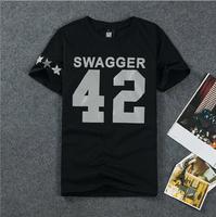 HE-72 new 2014 Summer harajuku shirt men HBA PUKK PYREX Swagger printed t shirt men Rock hip hop shirts Reflective skateboard