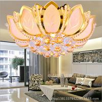 Traditional Gold Crystal Ceiling Light Living Room Lights Lotus Lamp Bedroom Lamp Restaurant Lamp Crystal Ceiling Light ds-064