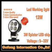 1PCS/LOT 2014 NEW ARRIVAL DC10-30V IP6712V led flood light 12w Offroad Truck epistar 3w ship working lamp free shipping