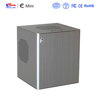 Realan D3 Mini ITX Aluminum Computer Case,  Silver Vertical ITX Industrial PC Case With PCI Expansion Slots