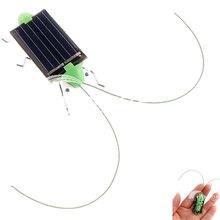 Wholesale Solar Grasshopper toys for children Solar Toys game Mini Grasshopper For Kids Fun Bug Robot Free Shipping Power Energy(China (Mainland))