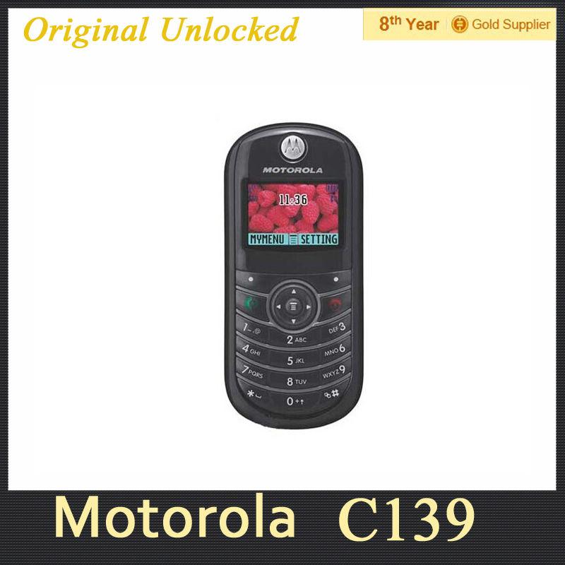 Cheap Original MOTOROLA C139 Mobile Phone GSM 900 1800MHz Refurbished Free Shipping