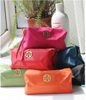 3 pcs/lot Women Make Up bag Cosmetic Bag Small wristlet bag candy color nylon bag organize zipper handbag Free Shipping