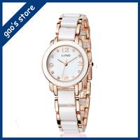 White watches female table fashion watches quartz watch waterproof lady bracelet
