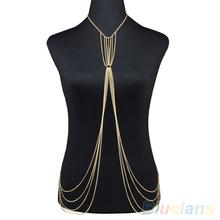 Women s Bikini Beach Tassels Hollow Harness Crossover Waist Belly Body Chain Jewelry body piercing belly