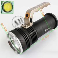 Free shipping Cree R5  800 Lumens  LED Flashlight Torch 3-Mode For 2x18650 3.7V  1PCS  NEW