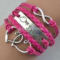 freeshipping One Direction Bracelet Wraps