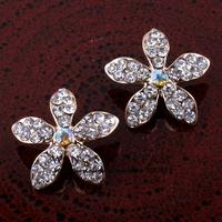 "(30pcs/lot)0.75"" New Hot Imitation Diamond Sparkle Flower Button Glossiness Coloful Rhinestone Alloy Center Adornment For Craft"