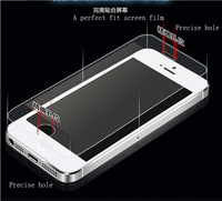 2014 New 2.5D Ultrathin Premium Tempered Glass Screen Protector for iPhone 5 5s 5c Protective Film 0.3mm HD Great Gift