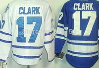 Men's Toronto Jersey blue Ice Hockey Jerseys #17 Wendel Clark White CCM Authentic Jersey 100% Polyester Jersey Stitched C Patch