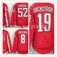 Wholesale Women's ICE Hockey Jerseys #8 Alex Ovechkin #19 Nicklas Backstrom #52 Mike Green Jersey Women Jersey Free Shipping