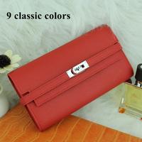 Hot Classic 100% Original Genuine Leather Platinum wallets H famous brand women clutch women fashion purse Luxury Medor Clutch