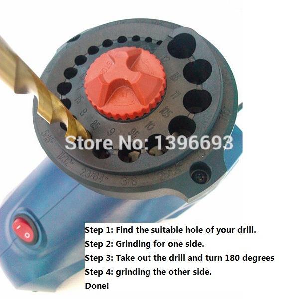 Pedacitos de taladro eléctrico sacapuntas, taladro amoladoras/moledoras/esmeriles, de molienda de perforación sacapuntas, sacapuntas de perforación para los novatos.