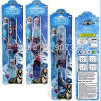 Cartoon Frozen Princess Anna Elsa Olaf Slap Watch Kids Snap Digital WristWatch Children Gift with packaging free shipping 100pcs