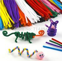 100pcs/set Plush Stick & Christmas Shilly-Stick Children's Educational Toys DIY Materials Handmade Art And Craft Materials