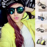 Women's Reflective Arrow Sunglasses Round Glasses Metal Frame Eyewear For Freeshipping
