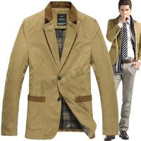 Aumr Slim Clothes Warm Overcoat Casual Vintage Outwear Suit Men Jacket Coat