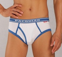 Pacquiao right side openings Cotton Briefs Men U convex pouch underwear ago 952589-PT1210001-01