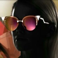 2014 free shipping  New arrivefashion  so cool women cat eye sunglasses  IRIDIA sunglasses    uv400