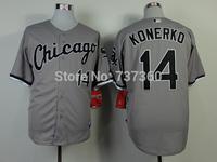 2014 new stitched cheap chicago white sox #14 Paul Konerko Baseball Jersey Konerko baseball shirt