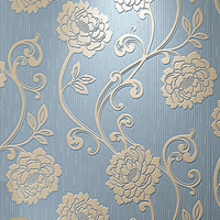 3D Abstract Floral Wallpaper Living Room Kids Room TV Flower Walls Paper Non Woven Blue