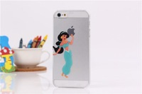 200pcs/lot  Transparent Simpson case cover for iphone 5 5s 4 4s snow whtie Hard cases covers for iphone5S free DHL
