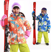 2015 Winter Waterproof Windproof Children Skiing Jacket Kids Skiing Clothing Cotton-padded Jacket Snow Coat For Boy And Girls
