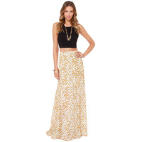 Little daisy full print long skirt maxi high waist  floor-length skirts 2014 new fashion women clothing haoduoyi