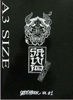 ITALY RARE TRADITIONAL TATTOO SKETCH FLASH DESIGN ART BOOK A3 SIZE SHEET SALVIO  B4-BOOK1119