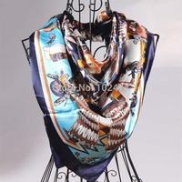 Free shipping 2014 high quality  Women's/Ladies Big plaid silk Scarf Wrap Shawl Stole