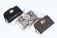2014 New Brand Michael Korss Bag Woman Fashion Leather Wallet Case Mobile Phone Wallet MK Zipper Wallet For iPhone MOQ1pcs