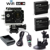 Free Shipping!New SJ4000W Wifi HD 1080P Helmet Sports Camera Cam+Free Battery+Home&Car Charger