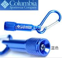 C010 Columbia carabiner  Glare  Flashlight    Mini flashlight  With battery Keychain    16g