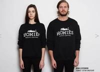 New arrival2014 Brand Women's Clothing Homies Hoodies Long Sleeve Fleece Lined Couple Hoodies Sweatshirts Fashion Pullovers