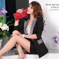 Women Blazer Feminino 2014 New Ladies Jackets Small Suit One Button Slim Work Wear Blazers Feminino Plus size S-XXXL
