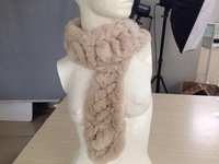 BG30452 Genuine Rex Rabbit Fur Scarf Tying Women Winter Scarves Wholesale Retail Real Fur Scarves