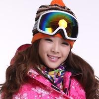 2015 New Fashion 10 colors Skiing Eyewear Ultralarge revo spherical mirror double layer anti-fog anti-uv snow goggle/ski mirror