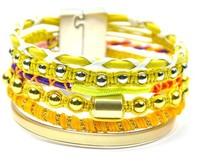 Hot Sale Yellow Tone Women Handmade Fashion Brazil Style Hipanema Bracelets. Wholesale Fashion Female Bracelets 2014