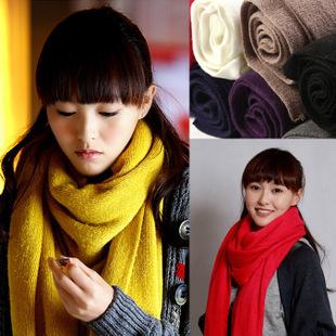 Fashion Women Warm Winter Scarf Shawl Cotton Wool Blended Long Soft Scarves Wraps 200x30cm(China (Mainland))