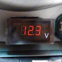 Motorcycle ATV Car Red LED Voltage Volt Meter Panel Monitor Gauge Free Shipping