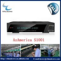 2014 hot sale original azamerica s1001 decoder nagra3 hd iks sks manufacturer